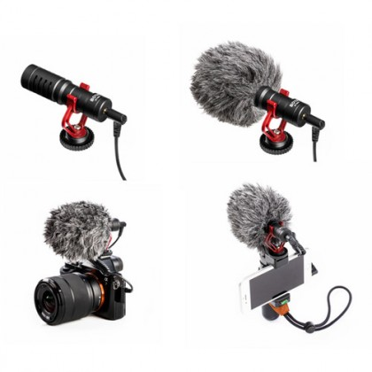 READY STOCK Original Boya BY-MM1 Cardioid Microphone for Camera Smartphone
