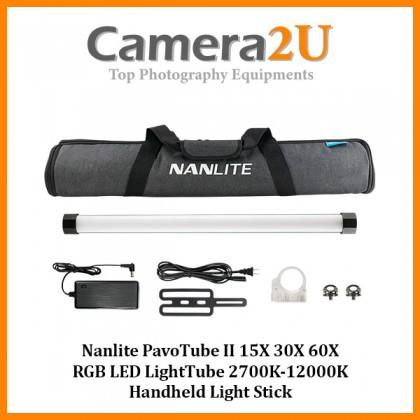 Nanlite PavoTube II 15X 30X 60X RGB LED LightTube 2700K-12000K Handheld Light Stick