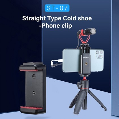 READY STOCK Ulanzi ST-07 ST07 Phone Holder Phone Clip With Cold Shoe For Smartphone (White)